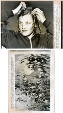 NEWS PHOTO: SHANE GOULD - OLYMPIC MEDALIST SWIMMER 1971