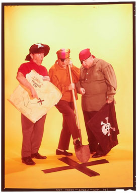 3 STOOGES #16 - PHOTO COVER COLOR TRANSPARENCY (1963)