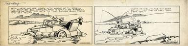 CLIFFORD McBRIDE - NAPOLEON DAILY ORIG ART circa 1934 STUCK