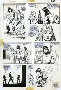 JOHN BUSCEMA - CONAN MOVIE SPECIAL #1 PAGE 18 ORIG ART