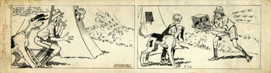 CLIFFORD McBRIDE - NAPOLEON DAILY ORIG ART circa 1940s PUPPY