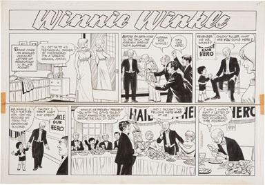 MAX VAN BIBBER - WINNIE WINKLE SUNDAY ORIG ART 8-04-68