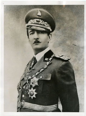 NEWS PHOTO: KING ZOG OF ALBANIA BEFORE EXILE (1938)