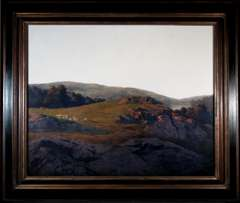 MAXFIELD PARRISH Oil Painting - SHEEP PASTURE - 1936
