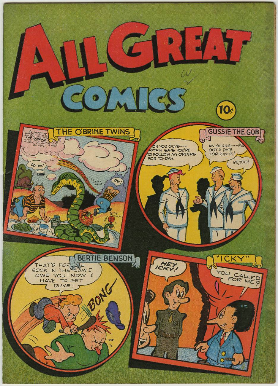 ALL GREAT COMICS #1(1946) Davis Crippen D COPY