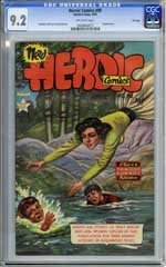 HEROIC COMICS #90 (1954) CGC NM- 9.2 OW Pgs - FILE COPY