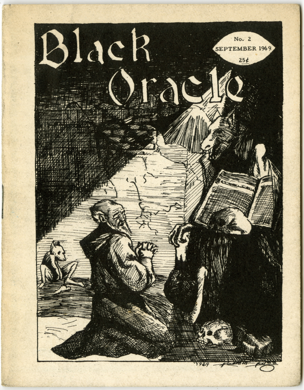BLACK ORACLE #2 (1969) FANZINE ROBT BLOCH INTERVIEW