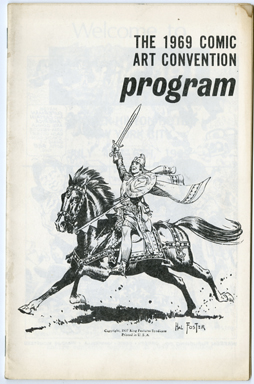 COMIC ART CONVENTION 1969 PROGRAM BOOK Kurtzman FOSTER