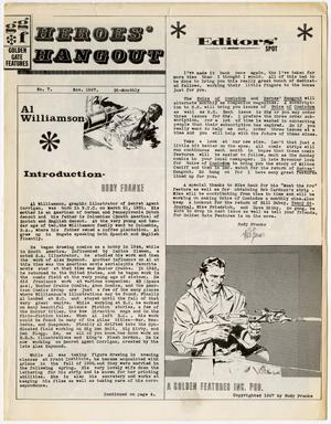 HEROES' HANGOUT #7 (1967) FANZINE Al Williamson
