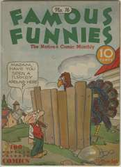 FAMOUS FUNNIES #16 - 4 pages BUCK ROGERS - 1935
