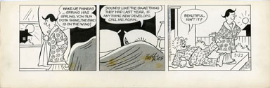 BILL YATES -PROF PHUMBLE DAILY ORIG ART 03-22-61 SPRING
