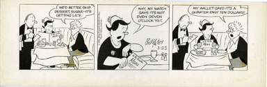 BILL YATES -PROF PHUMBLE DAILY ORIG ART 03-25-61 DINNER