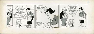 BILL YATES -PROF PHUMBLE DAILY ORIG ART 05-17-61 MIDDLE