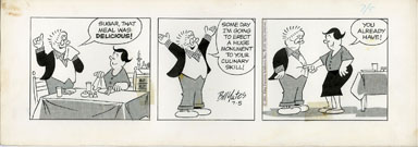 BILL YATES -PROF PHUMBLE DAILY ORIG ART 07-5-61 MEAL