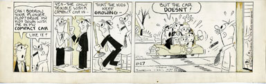 "GEORGE ""SWAN"" SWANSON - FLOP FAMILY DAILY ART 11-27-74"