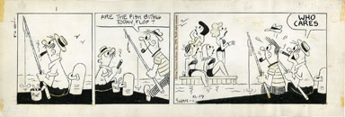"GEORGE ""SWAN"" SWANSON - FLOP FAMILY DAILY ART 8-19-74"