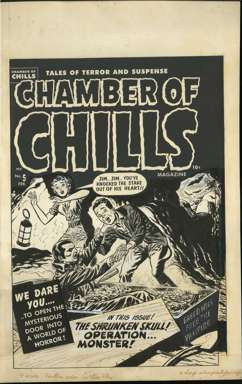 LEE ELIAS - CHAMBER of CHILLS #5 Orig Cover art VAMPIRE