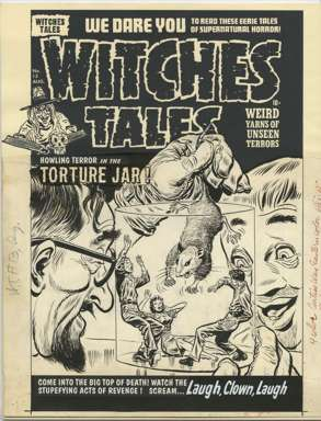 LEE ELIAS - WITCHES TALES #13 Orig cvr art TORTURE JAR!