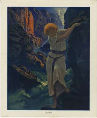 "MAXFIELD PARRISH - ""THE CANYON"" Uncirculated Print, never framed - 1924"