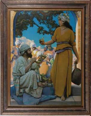"MAXFIELD PARRISH - ""THE LAMP SELLER of BAGDAD"" - 1922"