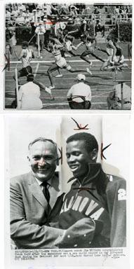 FRANK BUDD (OLYMPIAN /TRACK / FOOTBALL) - 2 STILLS 1961