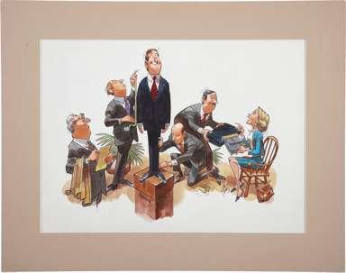 JACK DAVIS - BUSINESSMAN AND TAILOR ILLO ORIGINAL ART