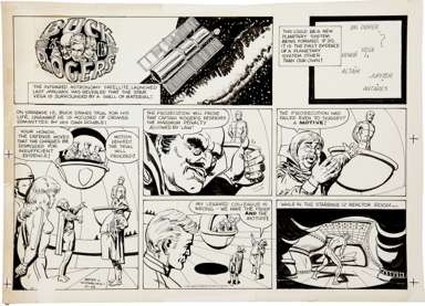 JACK SPARLING - BUCK ROGERS SUNDAY ORIG ART 11-20-83