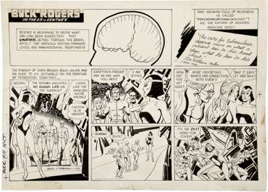 JACK SPARLING - BUCK ROGERS SUNDAY ORIG ART 9-11-83