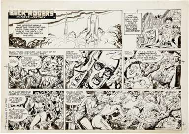 JACK SPARLING - BUCK ROGERS SUNDAY STRIP ORIG ART 8-7-83