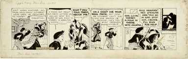 MARTHA ORR - APPLE MARY DAILY STRIP ORIG ART 12-13-37