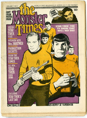 MONSTER TIMES #2 FANZINE 1972 STAR TREK Ish GRAY MORROW