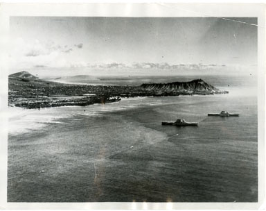 NEWS PHOTO: DIAMOND HEAD CRATER / PEARL HARBOR 1933