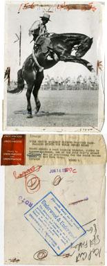 NEWS PHOTO: WORLD SERIES RODEO / MORRIS WEIDEMAN 1929