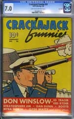 CRACKAJACK FUNNIES #20 (1940) CGC FN/VF 7.0 LOST VALLEY