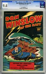 DON WINSLOW OF THE NAVY #61 CGC NM 9.4 COW Pgs CROWLEY