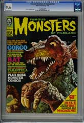 FAMOUS MONSTERS OF FILMLAND #50 (1968) CGC NM+ 9.6 OWpg