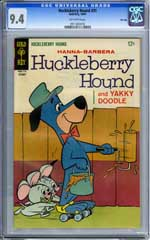 HUCKLEBERRY HOUND #31 (1967) CGC NM 9.4 OW Pg TOP GRADE
