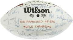 1984 SAN FRANCISCO 49ers SIGNED FOOTBALL JOE MONTANA