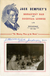 JACK DEMPSEY AUTOGRAPH ON COCKTAIL LOUNGE COURTESY PIC