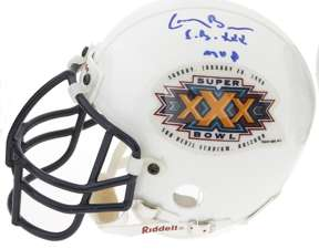 LARRY BROWN -SIGNED RIDDELL MINI-HELMET SUPER BOWL XXX