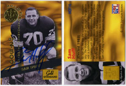 SAM HUFF - SIGNED HALL OF FAME TRADING CARD 553/2500