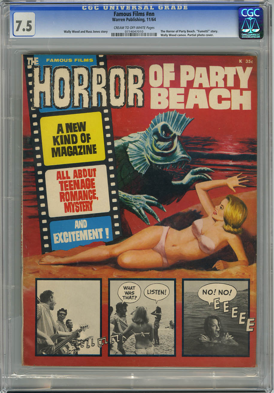 HORROR OF PARTY BEACH #nn (1964) CGC VF- 7.5 COW Pages