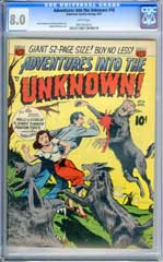 ADVENTURES INTO THE UNKNOWN #18 (1951) CGC VF 8.0 WHITE Pages