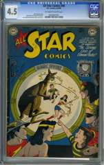 ALL STAR COMICS #48 (1949) CGC 4.5 OWW Pgs