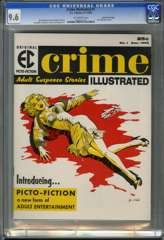 CRIME ILLUSTRATED #1 (1955) CGC 9.6 OW Pgs GAINES