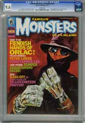 FAMOUS MONSTERS OF FILMLAND #63 CGC NM+ 9.6 WHITE Pages