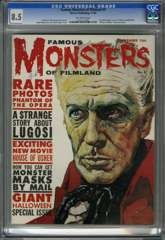 FAMOUS MONSTERS OF FILMLAND #9 (1960) CGC 8.5 OW Pgs