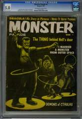 MONSTER PARADE #4 (1959) CGC 5.0 OWW Pgs