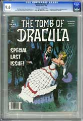 TOMB OF DRACULA #6 (1980) CGC NM+ 9.6 OWW Pg LAST ISSUE