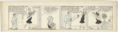 CHIC YOUNG - BLONDIE DAILY COMIC STRIP ORIG ART 4-8-31